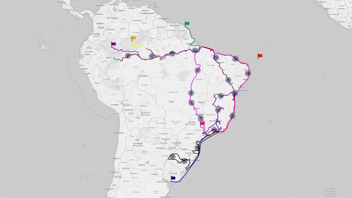 Conheça o Atlas dos Viajantes do Brasil